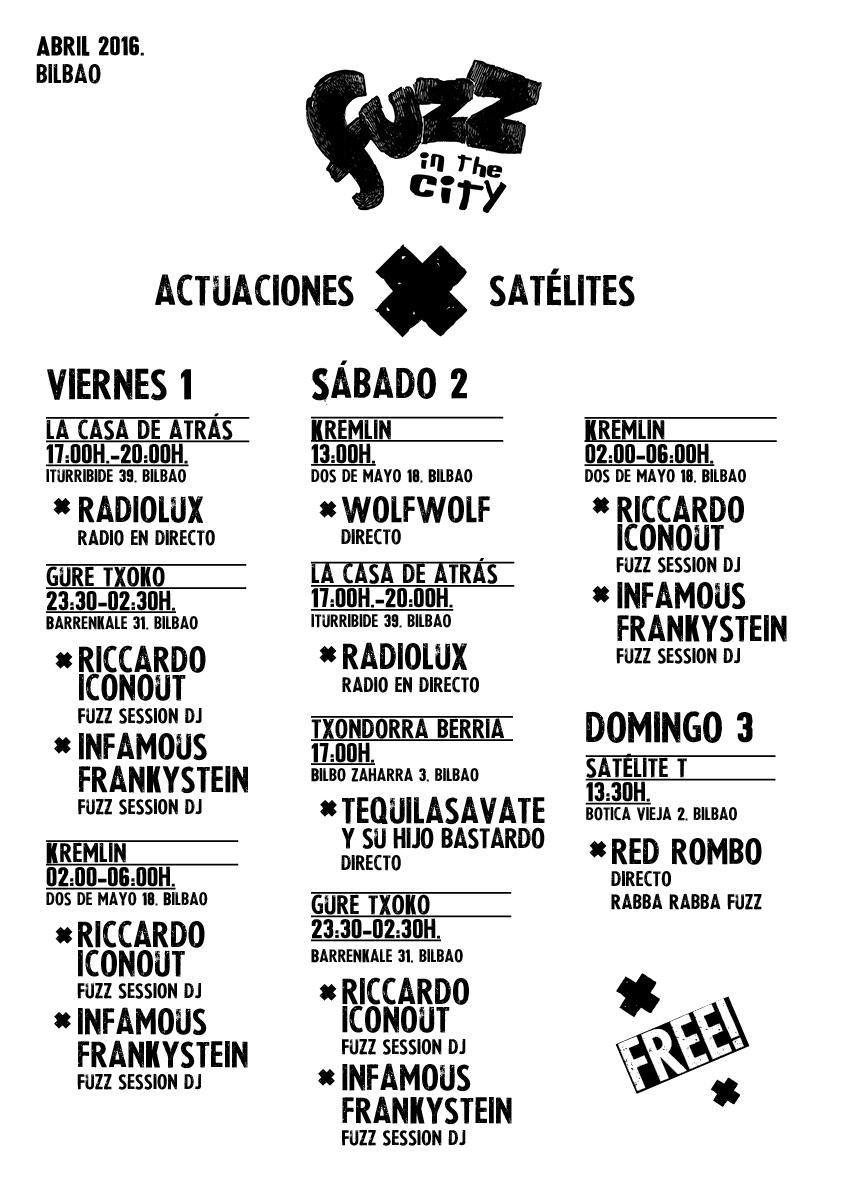 Fuzz in the city. Actuaciones_satelite_2016